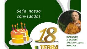 Venha comemorar o aniversário de 18 anos da Ponto Terra
