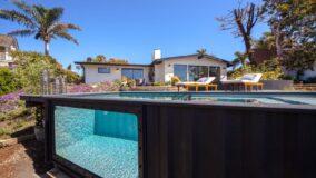 Empresa transforma contêineres usados em piscinas